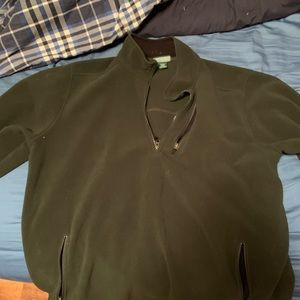 LL bean fleece quarter zip